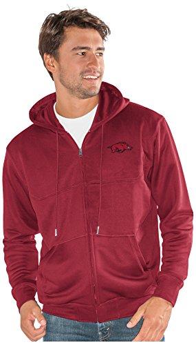 G-III Sports NCAA Arkansas Razorbacks Men's Cadence Full Zip Sweatshirt, Cardinal, X-Large (Sweatshirt Arkansas Throw Razorbacks)