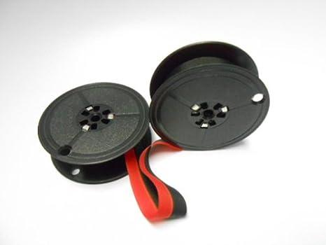 Farbbandfabrik Gr.5 - Cinta entintada para Hermes Baby 1000, color negro y rojo: Amazon.es: Oficina y papelería
