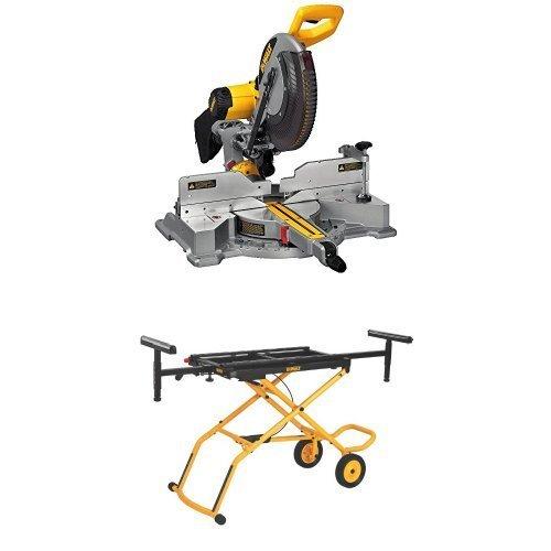 DEWALT DWS709 Slide Compound Miter Saw, 12-Inch w/ DWX726 Rolling Miter Saw Stand