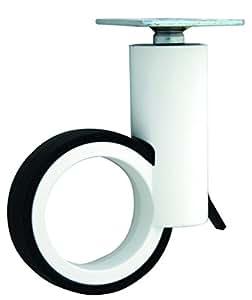 Diseño de Ruedas para muebles (con placa y freno zamak Blanco/Negro 100 mm