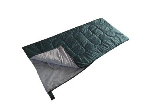 Kamp-Rite Envelope 40-Degree Sleeping Bag, Regular Size, Green/Grey