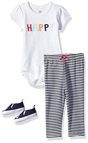 Little Treasure Baby Bodysuit, Pant and Shoe Set
