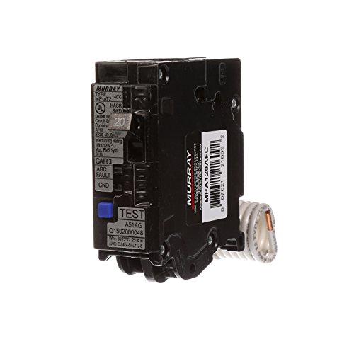 20a Arc Fault Breaker - Murray MPA120AFC 20-Amp Single Pole 120-volt Plug-On Combination AFCI Breaker