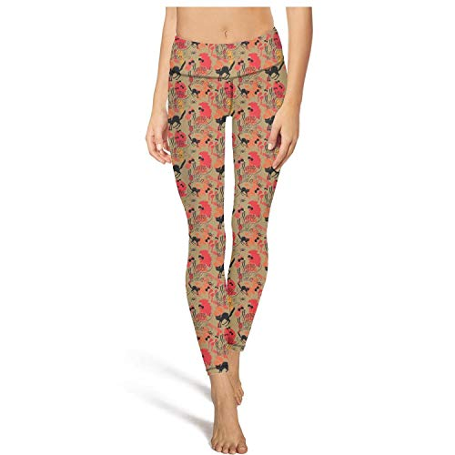 PLOKINC Yoga Pants for Women for Womens Workout Leggings Halloween cat Print High Waist Girls Tights ()