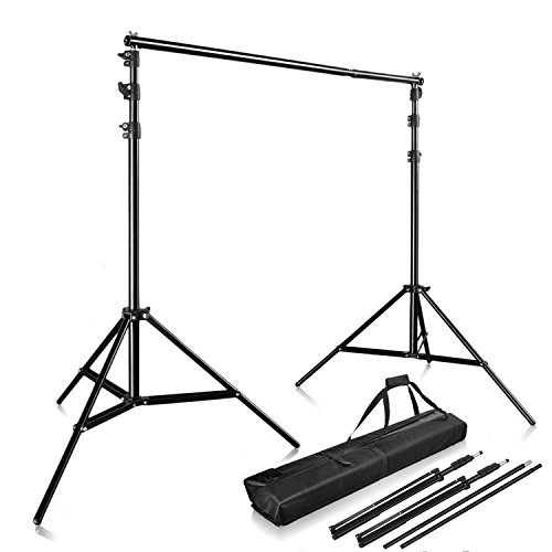 Arm Drop Kit (Happyjoy Photography 10Ft x 9Ft Photo Video Studio Telescopic Aluminum Alloy Adjustable Portable Background Backdrop Stand Support System Kit Tripod with Carry Bag and Cross Bar)