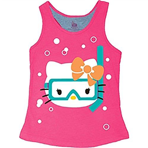 Hello Kitty 'Snorkel' Tank Girls Tank Top Fashion Top- Pink