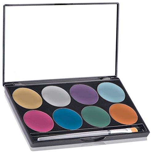 Mehron Makeup Paradise AQ Face & Body Paint 8 Color Palette (Brillant)