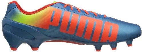 Puma Mens Evospeed 1.2 Tacchetta Da Calcio A Terra Ferma Squali Blu / Pesca Fluorescente / Giallo Fluorescente