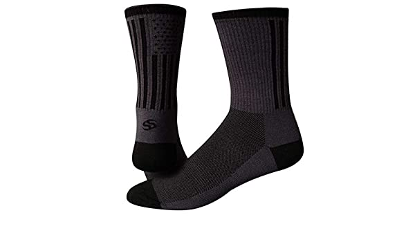 """Save Our Soles Tru Sole American Made 6/"""" socks white 10-12"""