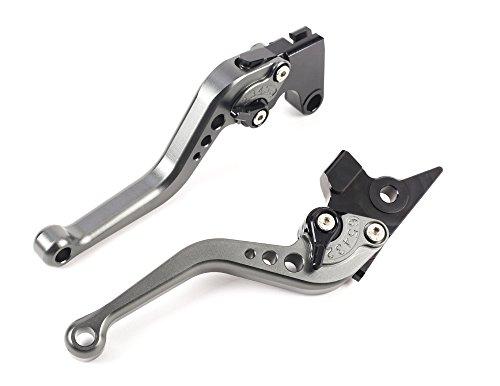 Short Brake Clutch Levers CNC Adjustable Aluminum for YAMAHA FZ1 FAZER 06-15,FZ8 11-15,FZ6R 09-15,FZ6 FAZER 04-10,XSR 700/900 ABS 16-17,MT-07 14-17,MT09/SR/FZ9 14-17,XJR DIVERSION SPL077
