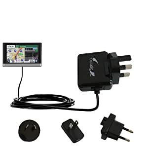 Gomadic Global Home Wall AC Charger designed for the Garmin nuvi 2557 / 2577 / 2597 LMT with Power Sleep technology - supports worldwide wall outlets and voltage levels - designed with Gomadic TipExchange