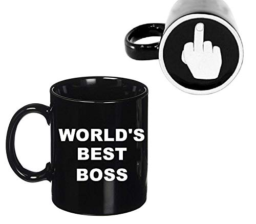 Ceramic Mug World's Best Boss Mug Middle Finger...