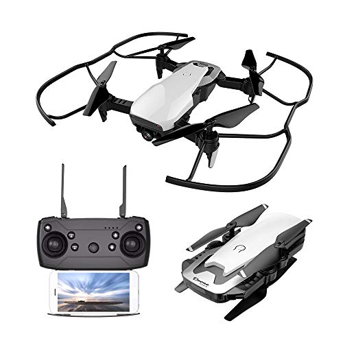 Cooligg Drone Beginners S163 2MP 720P WiFi FPV Foldable Arm Selfie Drone 2.4G 4CH RC Quadcopter,Wide Angle HD Camera,Headless Mode,One Key Return,Powerful Battery