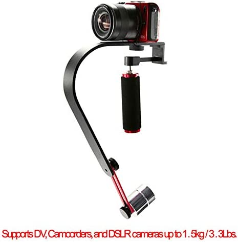 RuleaxAsi Video//Cam Stabilizer Handheld Handle Grip Steadicam for DV Camcorder DSLR Camera