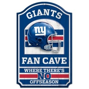 NFL New York Giants Fan Cave Wood Sign, 11