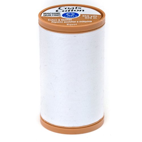 Clark Machine Coats Quilting & (Coats & Clark Machine Quilting Cotton 350 YD White, White)