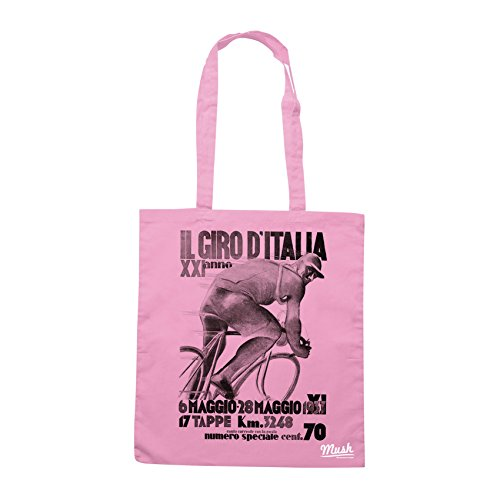 Borsa GIRO D'ITALIA RETRÒ POSTER 1933 - Rosa - SPORT by Mush Dress Your Style