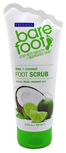 Freeman Exfoliating Lime & Coconut Foot Scrub By Barefoot, 5.3 Oz