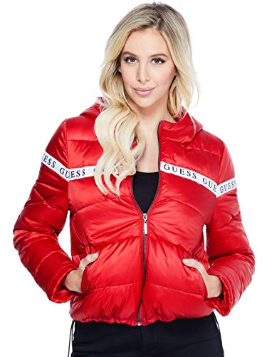GUESS Factory Women's Izze Logo Puffer Jacket