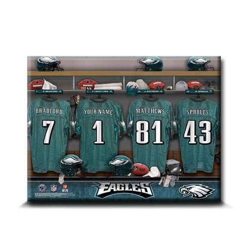 (Gifts Engraved NFL Locker Room Canvas Signs Personalized Free)