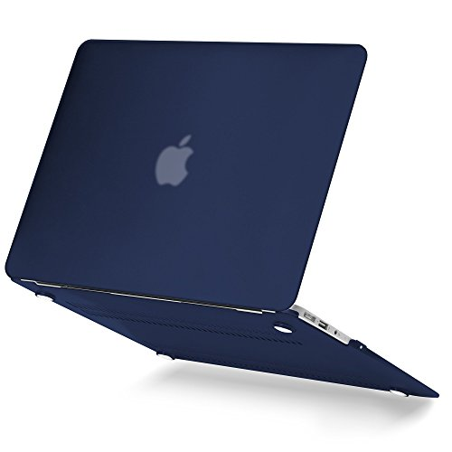 GMYLE 4 in 1 MacBook Air 13 Bundle Navy Blue Matte Set Plastic Hard Case Cover, Felt Storage Pouch Bag with Keyboard Skin, Screen Protector for MacBook Air 13 inch (A1369/A1466) by GMYLE (Image #3)