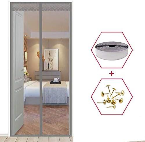 Dormitorio de verano cortinas magnéticas contra mosquitos y moscas, la red de malla cierra automáticamente las pantallas de las puertas cortinas de cocina A4 W100xH210