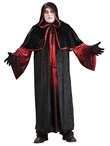 Forum Novelties Men's Demon Robe Costume, Black/Red, Plus Size -