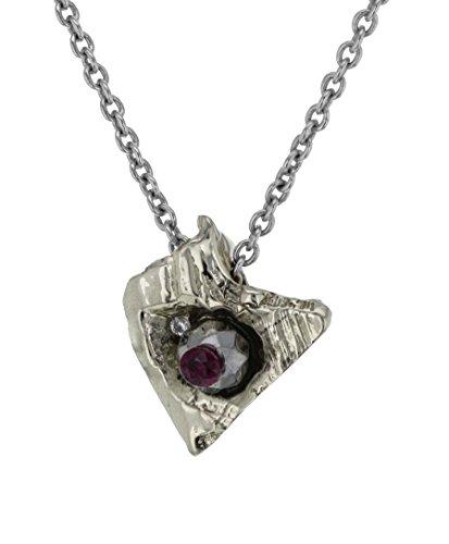Imogen Belfield Collier Or Blanc 9carats (375/1000) Diamant Femme 48cm