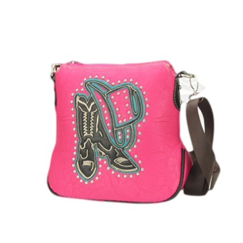Montana West Cowboy Boot and Hat Cross Body Concealed Car...