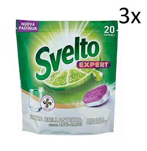 Svelto 3 x Expert Extra Brillo - Halos Pastillas lavavajillas ...