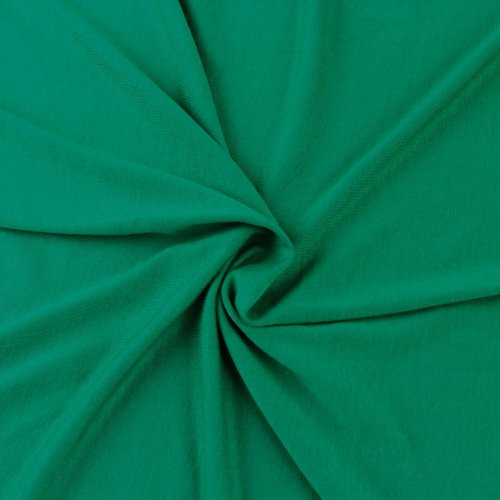 FabricLA Cotton Spandex Jersey Knit Fabric 12 oz - Easy to Cut, Suitable for Dresses Apparels and Leggings - 95% Cotton 5% Spandex - 2 Yard, Kelly Green