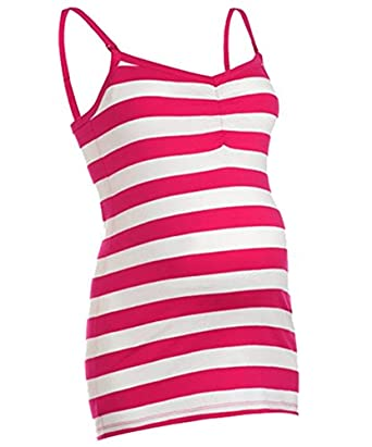 bbadf3acb7f8a Maternity And Nursing Vest Top Stripe S-XL (S)  Amazon.co.uk  Clothing