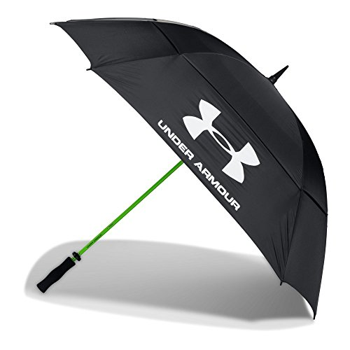 Under Armour Golf Umbrella - Double Canopy 68-inch, Black (001)/White, One Size