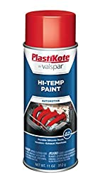 PlastiKote HP-13 Red Hi-Temp Paint - 11 Oz.