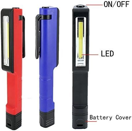 3Colors Bright Mini COB LED Light Clip Pen Flashlight Pocket Lamp Magnetic Torch