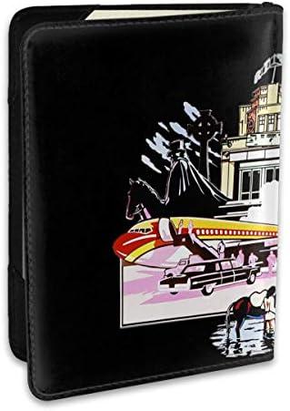 レッド・ツェッペリン パスポートケース メンズ 男女兼用 パスポートカバー パスポート用カバー パスポートバッグ ポーチ 6.5インチ高級PUレザー 三つのカードケース 家族 国内海外旅行用品 多機能