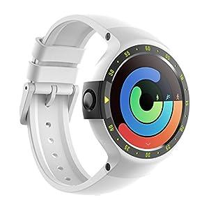Ticwatch S Glacier Smartwatch Bluetooth Montre Connectée avec écran OLED 1,4 Pouces, Android Wear 2.0, Sportswatch Compatible avec Android et iOS, Langue française Disponible Disponible