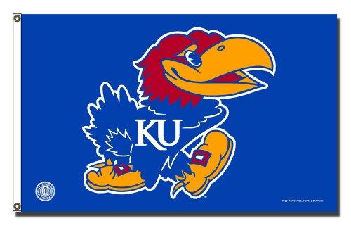NCAA Kansas Jayhawks Banner Flag 3-Foot by 5-Foot