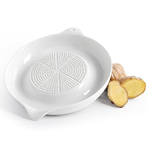 Sweese 3601 Porcelain Grater Plate - for Ginger, Garlic and Onion, 6 inches & White