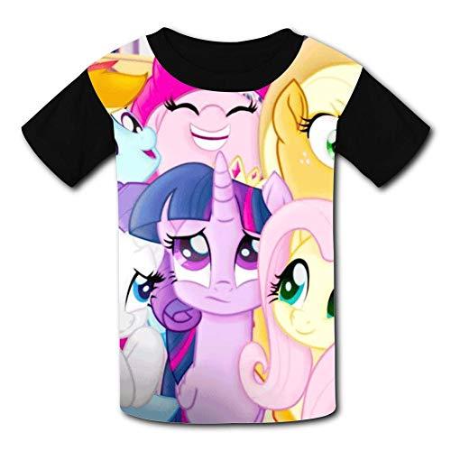My Little Pony Unicorn Children T-Shirts Crew Neck Short Sleeve Raglan Costume Tee Shirt for Girls