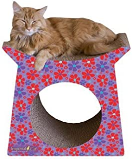 product image for Imperial Cat Tower Tunnel Scratch 'n Shape, Retro Purple Floral