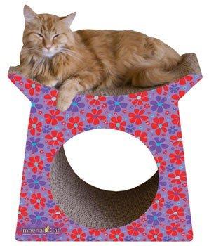 (Imperial Cat Tower Tunnel Scratch 'n Shape, Retro Purple)