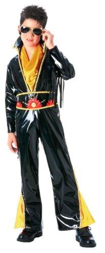 [Black Vinyl Rock Star Child Small Costume] (Vinyl Rock Star Costumes)