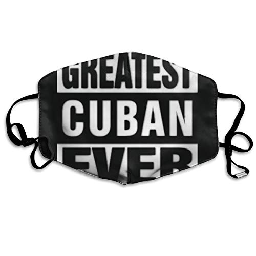 SDQQ6 Greatest Cuban Ever Mouth Mask Unisex Printed Fashion Face Mask Anti-dust -