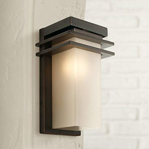 Bernadine Mission Outdoor Wall Sconce Fixture Oil Rubbed Bronze 12