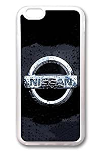 iPhone 6 Case - Clear Soft Back Cover with Nissan Car Logo 12 Print for iPhone 6 Scratch-Resistant Clear Slim Fit Cover for iPhone 6 4.7 Inches