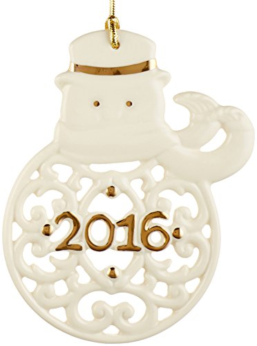 Lenox 2016 A Year to Remember Snowman Ornament ()