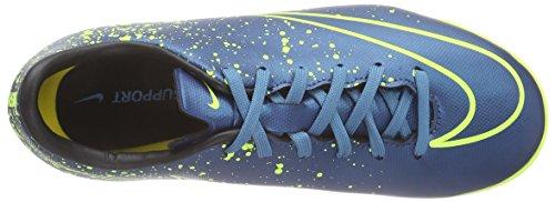 Nike Herren Mercurial Victory V IC Fußballschuh Cleat Blau Schwarz