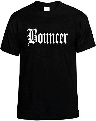 Signature Depot Mens Funny T-Shirt Size 4X (Bouncer (Work Occupational Career) Unisex Shirt Black