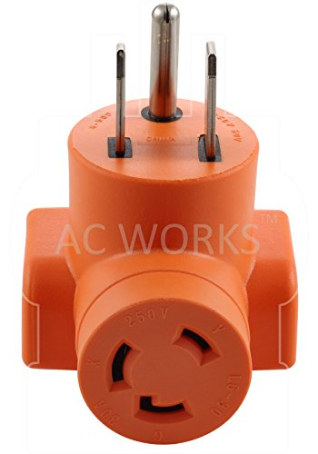 AC WORKS [AD650L630] Welder 6-50P Plug to L6-30R 3-Prong 30 Amp 250 Volt Locking Female Adapter by AC WORKS (Image #3)